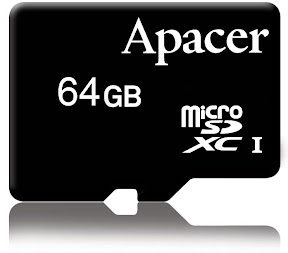 Apacer - Ultra High Speed microSDXC 64GB memory card