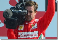 Fernando Alonso con la videocamera