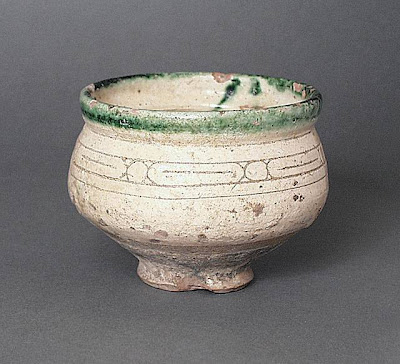 Bowl Afghanistan Bowl, 9th-10th century Ceramic; Vessel, Earthenware, with incised slip and color under transparent glaze, Height: 3 1/2 in. (8.89 cm); Diameter: 4 1/2 in. (11.43 cm) Gift of Andrew Hale and Kate Fitz Gibbon (AC1992.213.3) Art of the Middle East: Islamic Department.