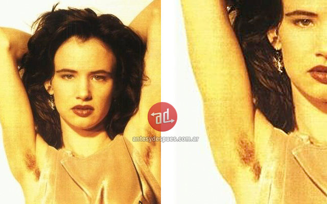 Photo of Juliette Lewis with armpit hair