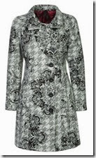 Desigual Grey Houndstooth Floral Coat