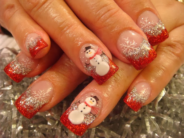 Nail Design For Christmas Christmas Designs For Nails