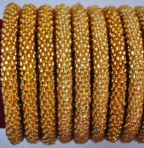 Rollover Brown Bead Bracelets