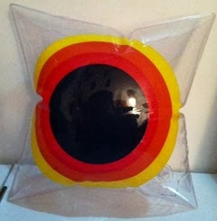 Inflatable bullseye pillow