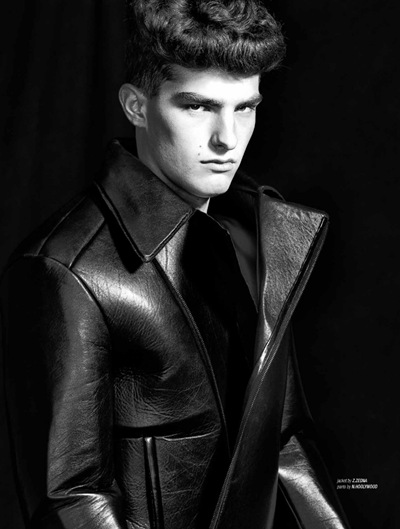 Paolo Anchisi @ Ford by Kristina Wilson for West-East Men, Fall 2011.  Styled by Takayuki Sekiya
