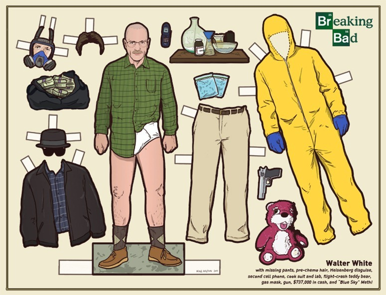 breaking bad walker white paper dolls