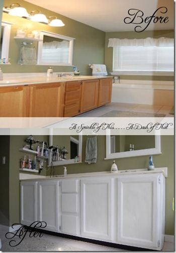master bath vanity before and after