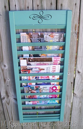 repurposed shutter-magazine holder