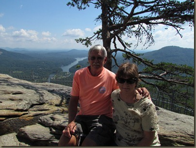 Al and I at Chimney Rock, North Carolina