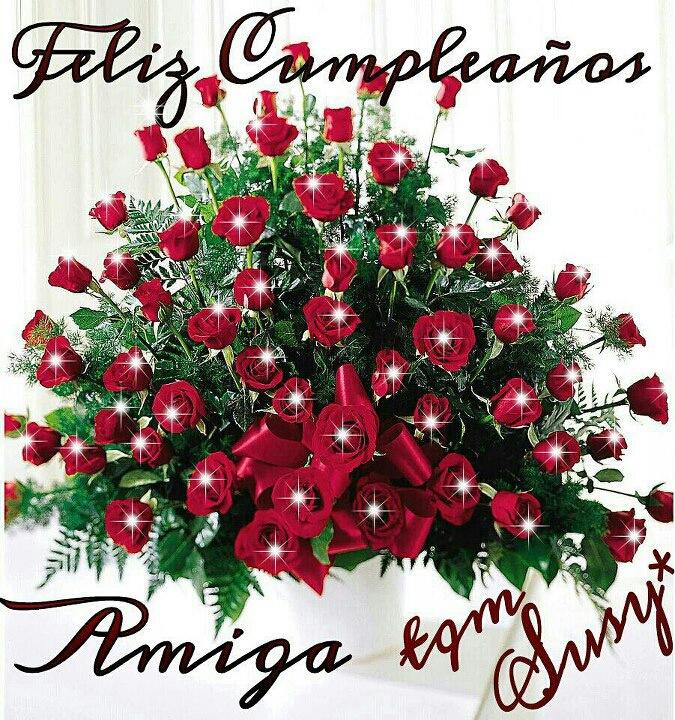DILO CON FLORES Y TARJETAS: feliz cumpleaños