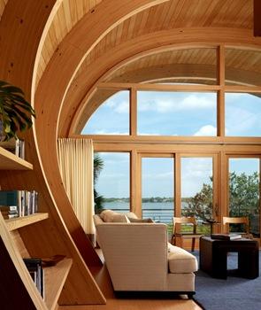 Construction21 arquitectura sostenible proyecto casa - Vigas madera techo ...