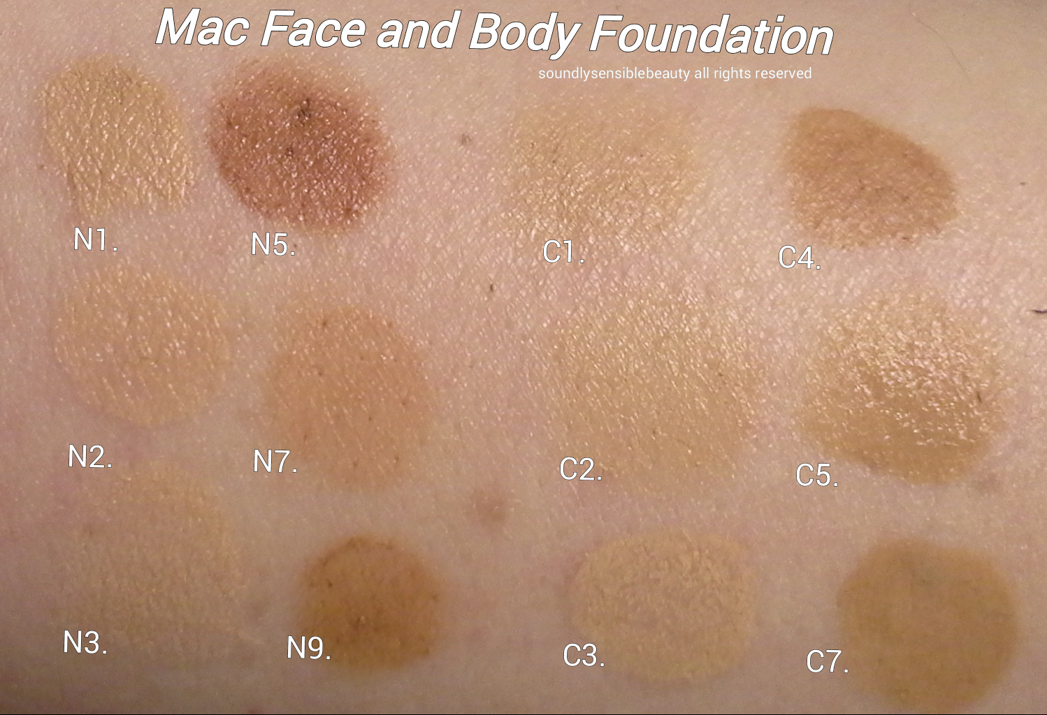 Mac Face Amp Body Foundation Review Amp Swatches Of Shades