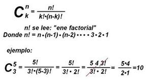 Formula Combinatoria Ejemplo