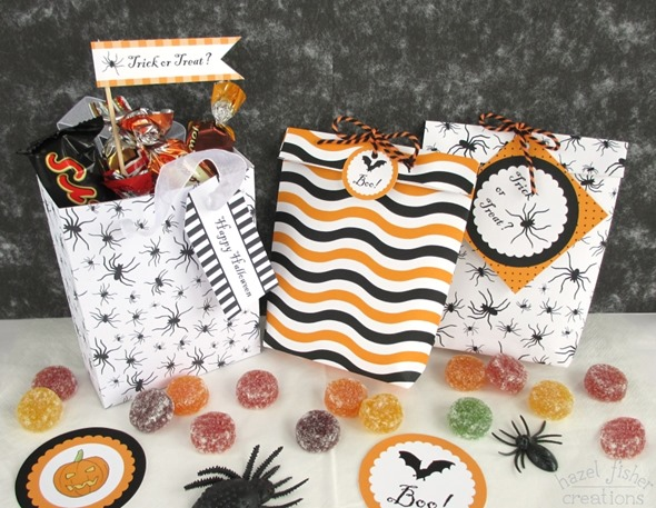 15 October 2014 Halloween printables gift bag diy tutorial hazel fisher creations 1
