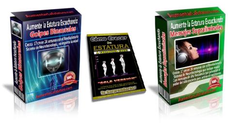 AUMENTA TU ESTATURA [ Audios + Libro Guía ] – Programa de Crecimiento para Aumentar la Estatura con Audios Binaurales y Mensajes Supraliminales