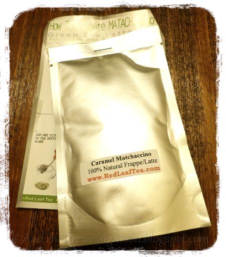 Red Leaf Tea Caramel Matchacinno Packaging