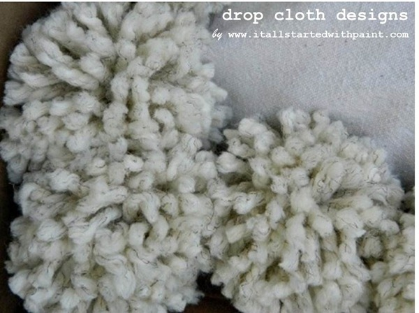 Pom Pom Drop Cloth Pillow