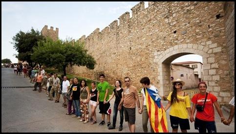 La diada y la cadena catalana