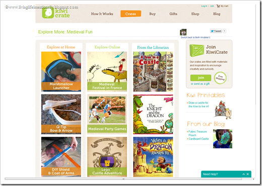 Kiwi Crate has loads of crafts, kids activities, and book recommendations online