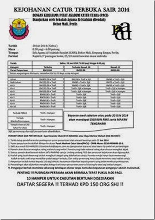 Kedah Sair Catur 2014