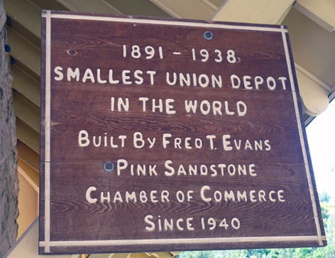 Train Depot Sign