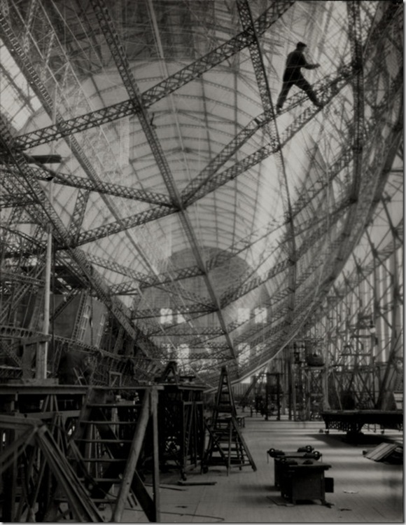 Skeleton of Graf Zeppelin, Friedrichshafen, 1928