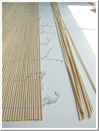 How to make a valance out of matchstick blinds