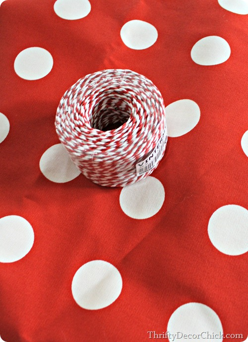 red and white polka dot