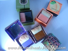benefit blushes with brushes, by bitsandtreats