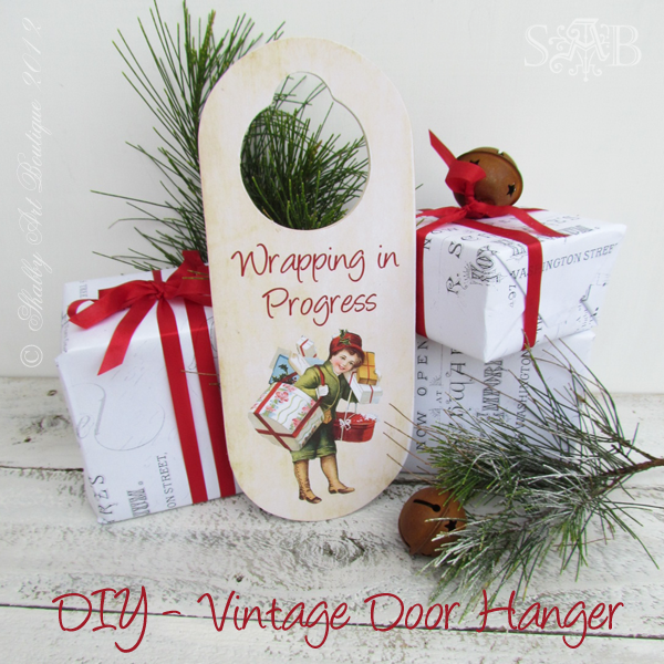 Do not disturb i m wrapping shabby art boutique for Vintage christmas craft supplies