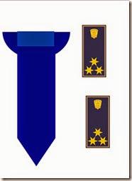 rendőrnyakkendő,rangjelzés