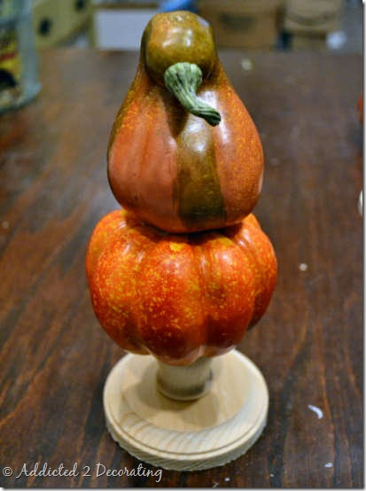 miniature pumpkin topiary 6