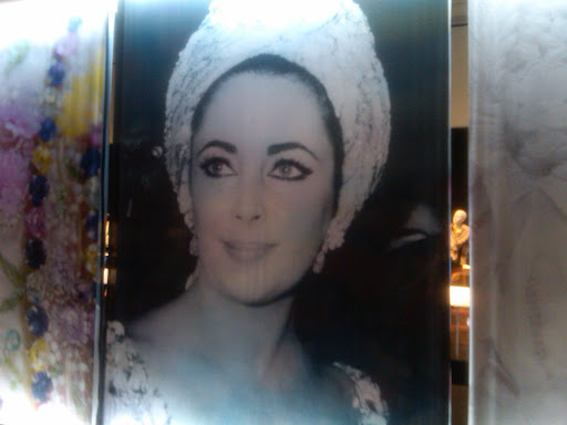 There were gorgeous photos of Elizabeth throughout the whole exhibit.