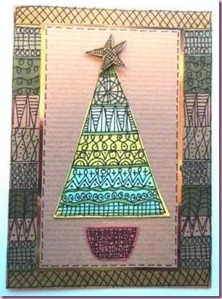 Doodled Christmas Card