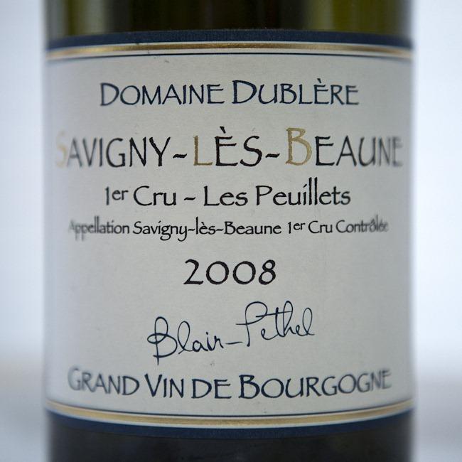 2008 Savigny Les Beaune Primier Cru Les Peuillets Bourgogne