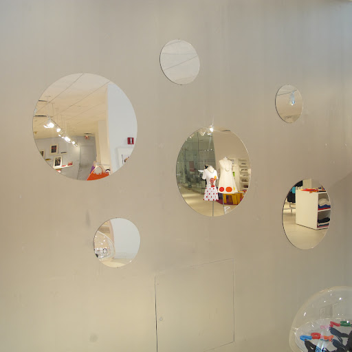 There were so many mirrors in the store. These remind me of bubbles, with their varying shapes.
