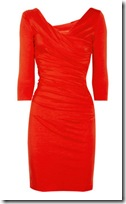 Diane von Furstenberg Ruched Red Dress
