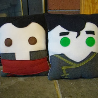Mako and Bolin Felt Pillows by Heart Felt Deisgns