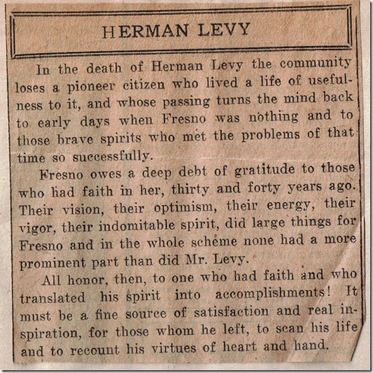 Herman Levy Obit