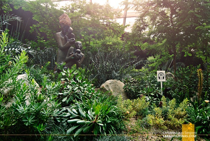 Scultures Among the Floras at Singapore's Flower Dome
