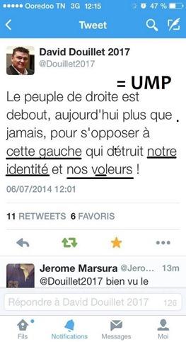 twitter Douillet UMP comentat
