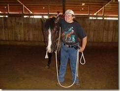 Day Three, my turn to ride and I am so excited about the changes my horse is making by Colleen Hamer