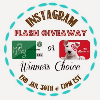 Instagram Flash Giveaway Win $10 Target or Starbucks Gift Card