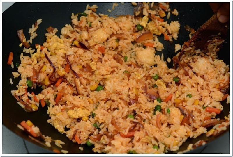 Fried Rice & Sichuan Shrimp 8