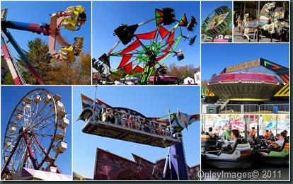 fair rides collage