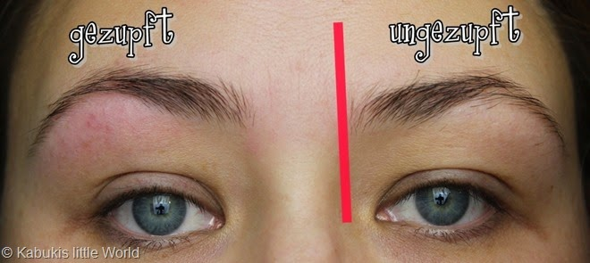 Augenbrauen 4 Zwischenstand