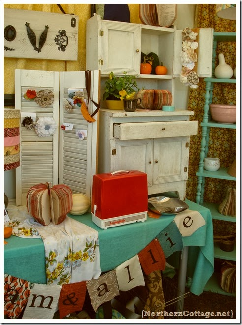 {Northern Cottage} pretty retro display