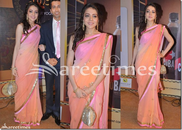 Pink_Peach_Dual_Color_Saree