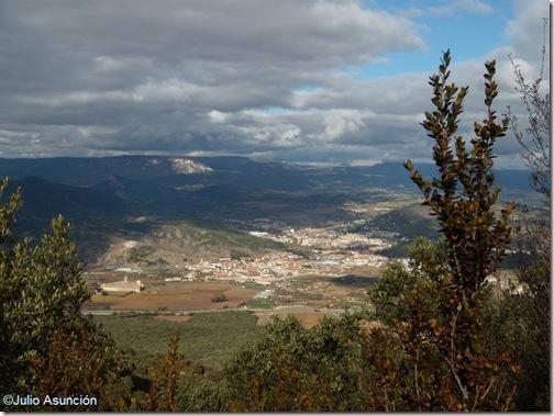 Panorámica de Estella - Ruta Montejurra
