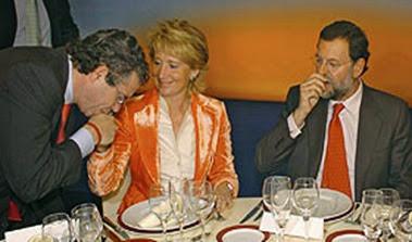 Aguirre, Rajoy y Granados